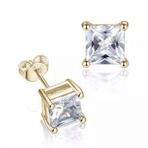 Princess Diamond Stud (Gold)