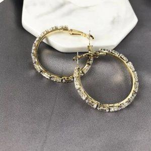 Baguette Diamond Hoops