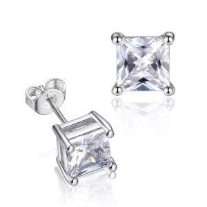 Princess Diamond Stud (Silver)
