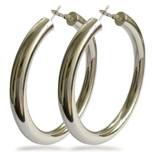 Solid Hoops (Silver)