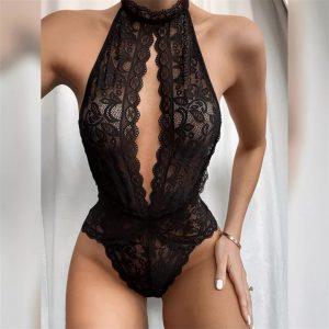 Lace Halter Bodysuit Underwear